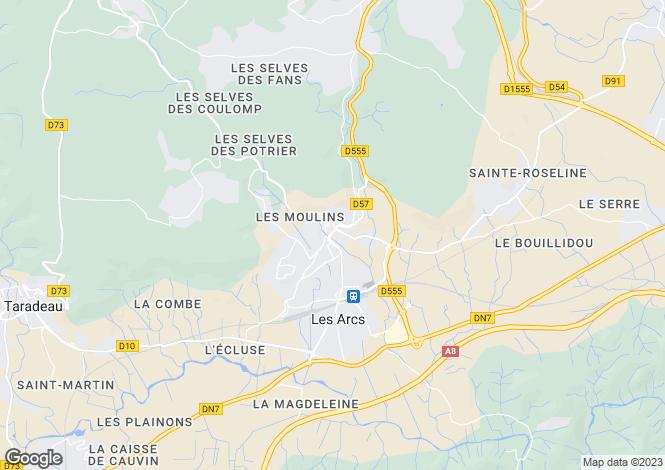 Map for Les Arcs-sur-Argens, 83460, France