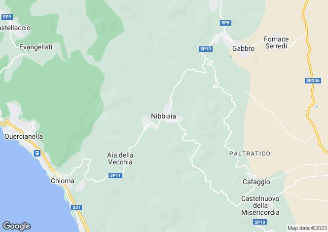 Map for Rosignano Marittimo, Livorno, Italy