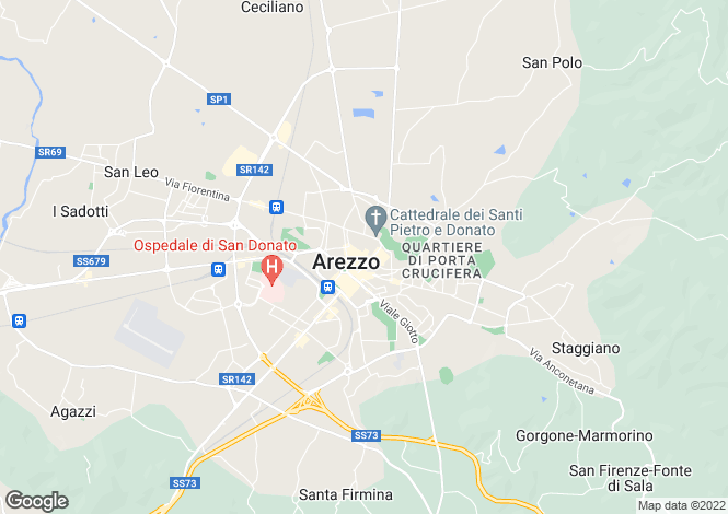 Map for Arezzo, Arezzo, Tuscany