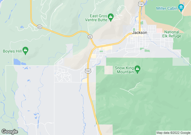 Map for Wyoming, Teton County, Jackson