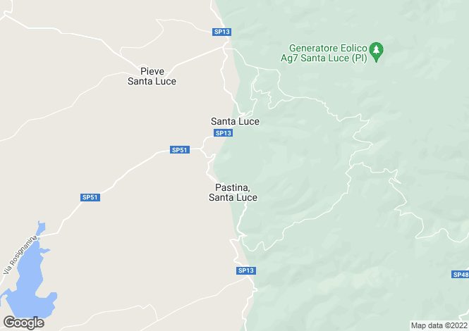 Map for Santa Luce, Pisa, Tuscany