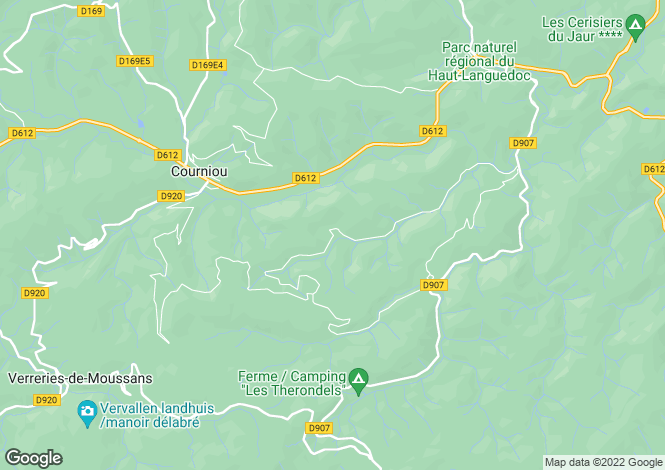Map for courniou, Hérault, France