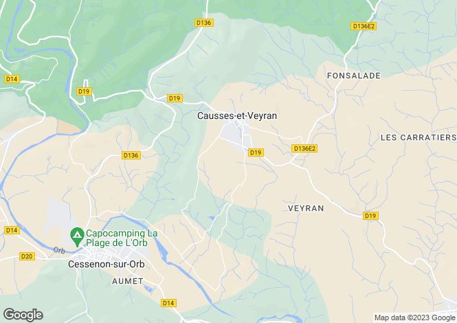 Map for causses-et-veyran, Hérault, France
