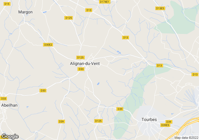 Map for alignan-du-vent, Hérault, France