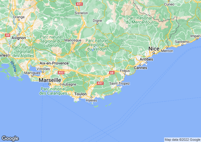 Map for Beauvallon Grimaud, St Raphaël, Ste Maxime Area, French Riviera,
