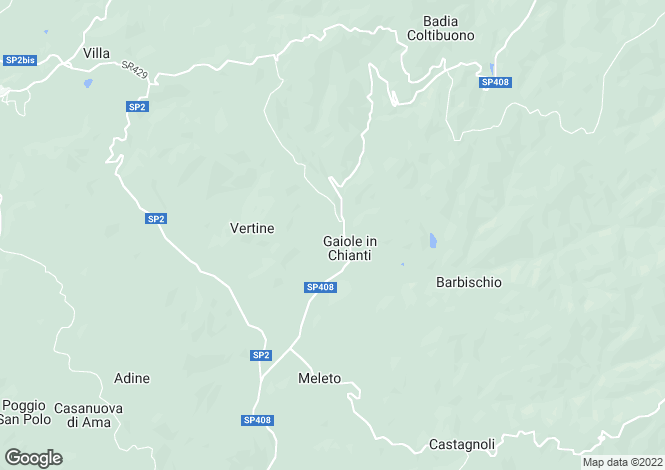 Map for Tuscany, Siena, Gaiole in Chianti
