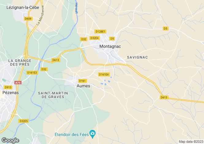 Map for Languedoc-Roussillon, Hérault, Montagnac