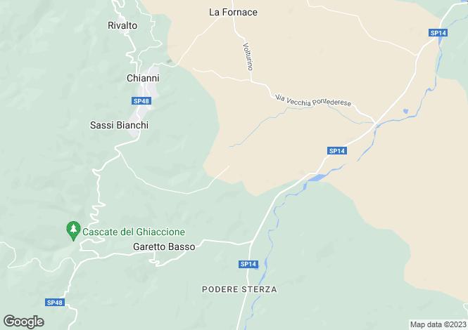 Map for Tuscany, Pisa, Chianni