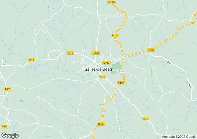Map for Salies de Bearn, Pyrenees Atlantiques, South West France