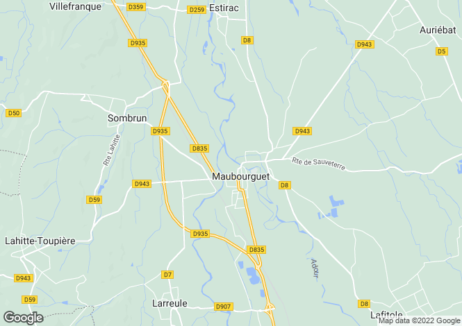 Map for Maubourguet, Midi-Pyrenees, 65700, France