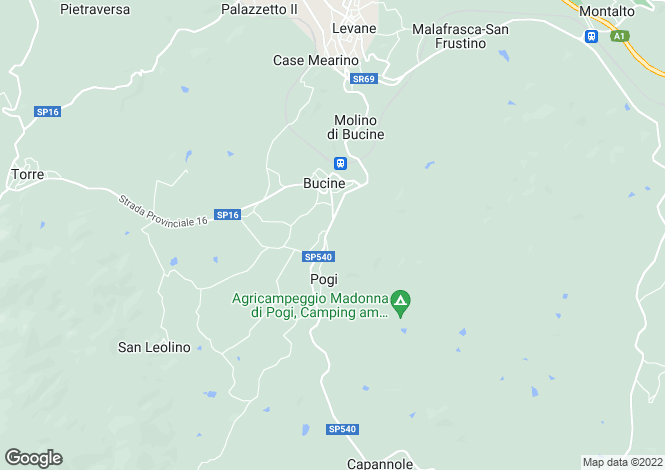 Map for Bucine, Tuscany, Italy