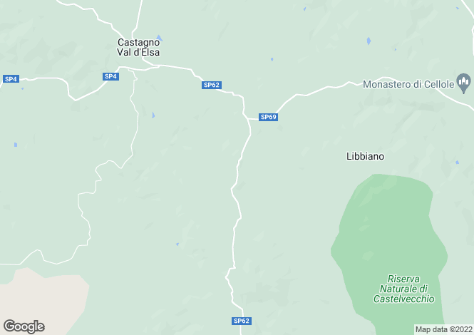 Map for Italy - Tuscany, Florence, Gambassi Terme