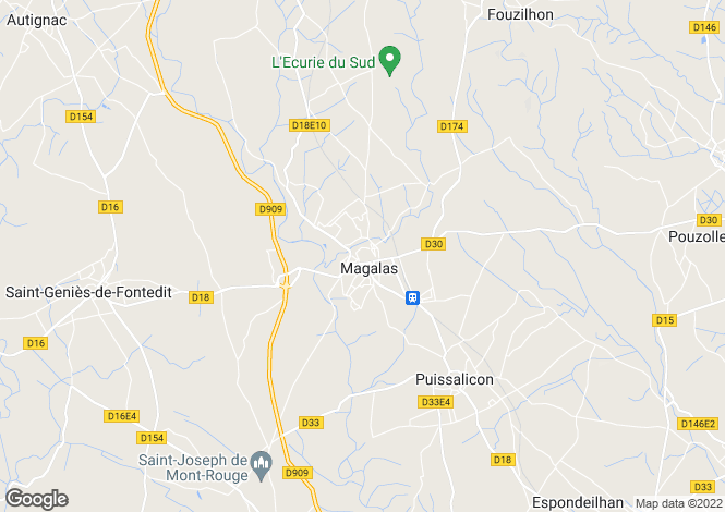 Map for Magalas, Languedoc-Roussillon, France