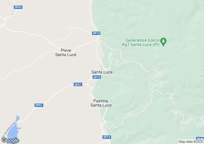 Map for Santa Luce, Tuscany, Italy