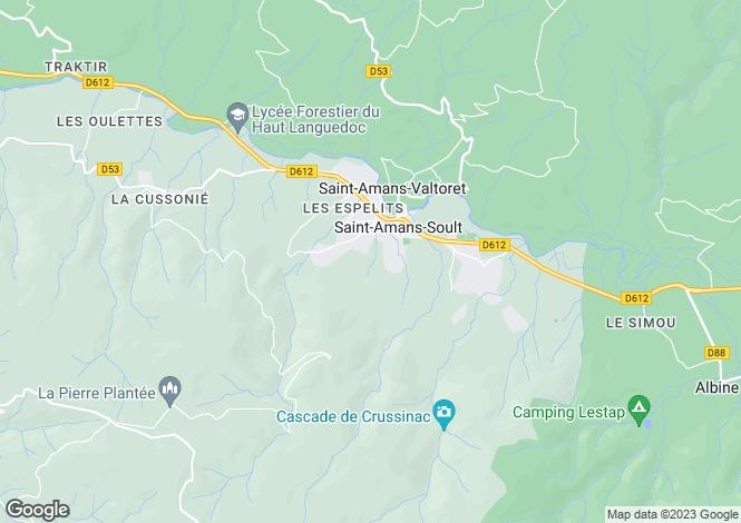 Map for st-amans-soult, Tarn, France