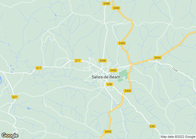 Map for salies-de-bearn, Pyrénées-Atlantiques, France