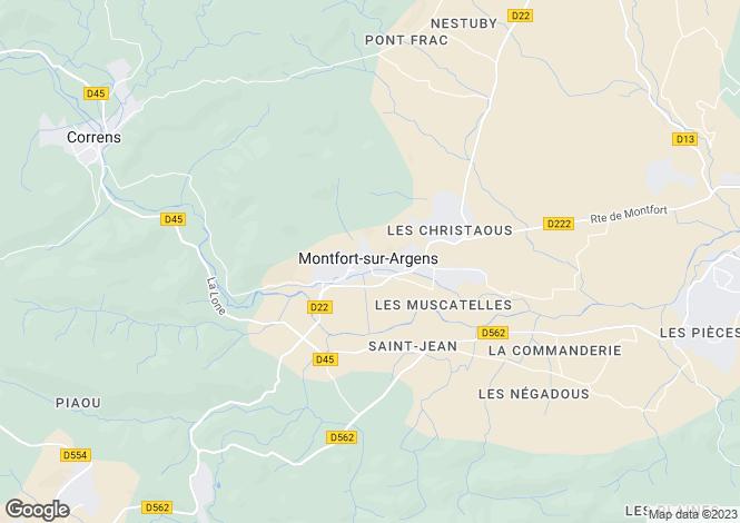 Map for Montfort-sur-Argens, 83570, France