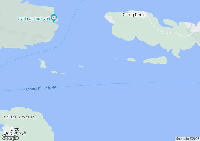 Map for Trogir, Split-Dalmatia