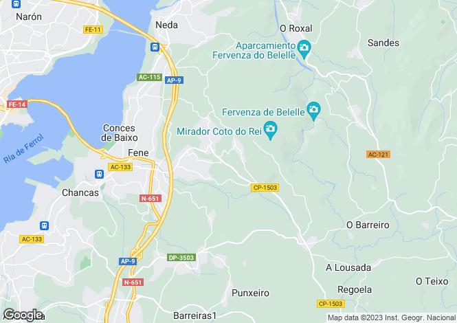 Map for Fene, A Coruña, Galicia