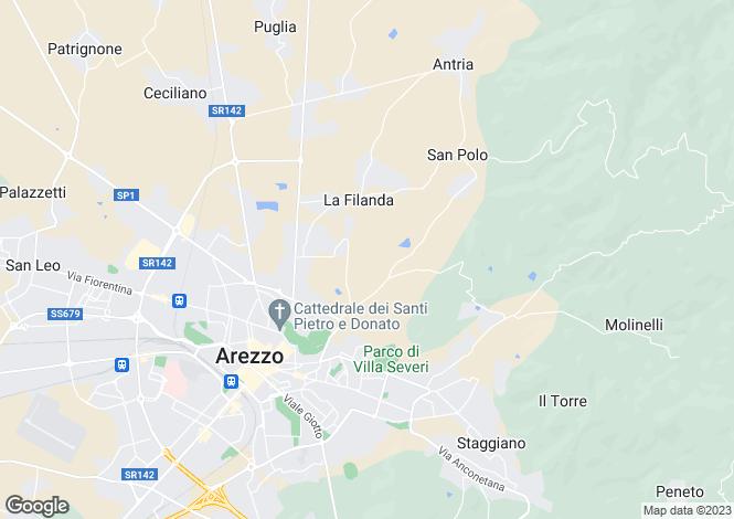 Map for La Contea, Arezzo, Tuscany, Italy