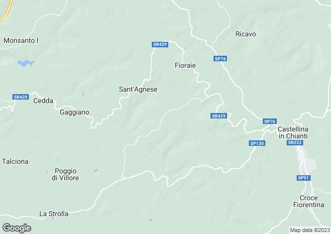 Map for Il Capanno, Castellina In Chianti, Tuscany, Italy