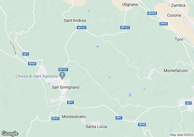 Map for Tuscany, Siena, San Gimignano