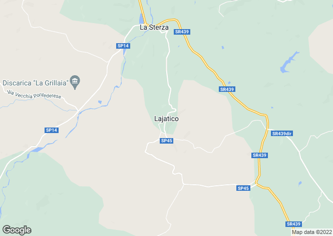Map for Lajatico, Pisa, Italy