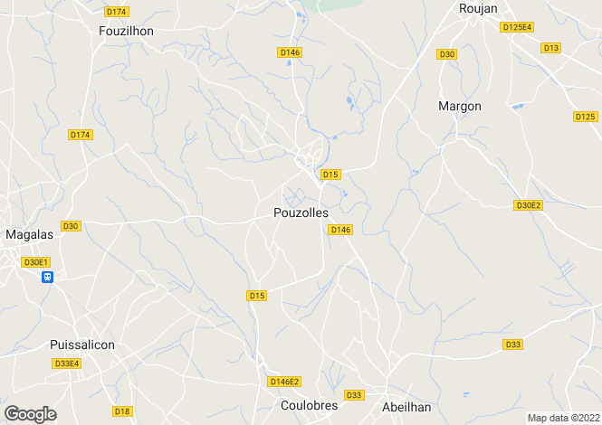 Map for Secteur: Pouzolles, Herault