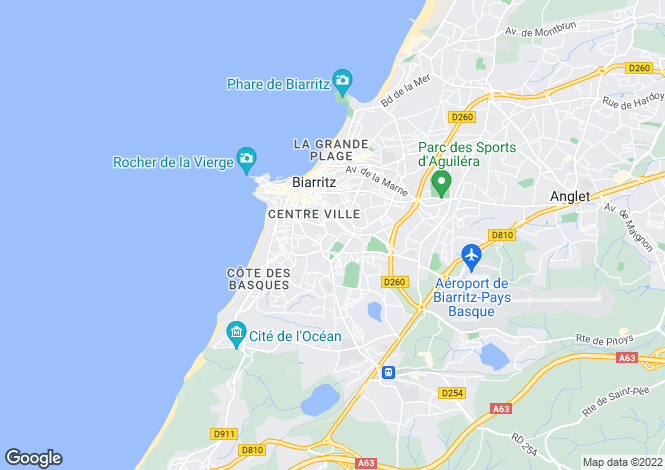 Map for BIARRITZ ,France