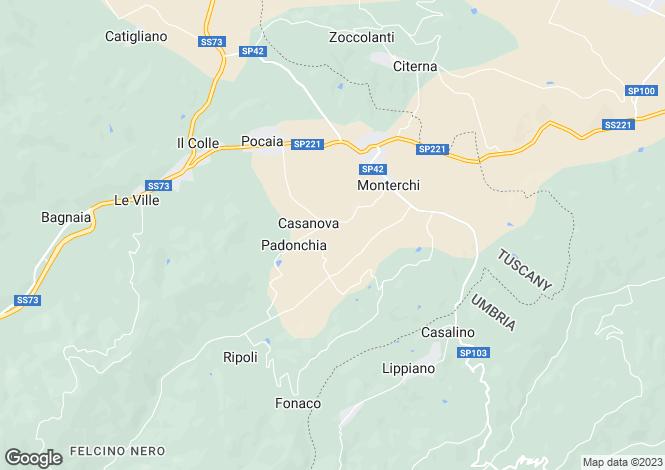 Map for Tuscany, Arezzo, Monterchi