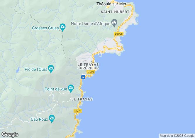 Map for Provence-Alps-Cote d`Azur, Alpes-Maritimes, Théoule-sur-Mer