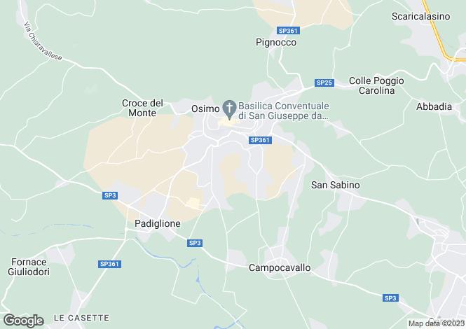 Map for Osimo, Ancona, Le Marche