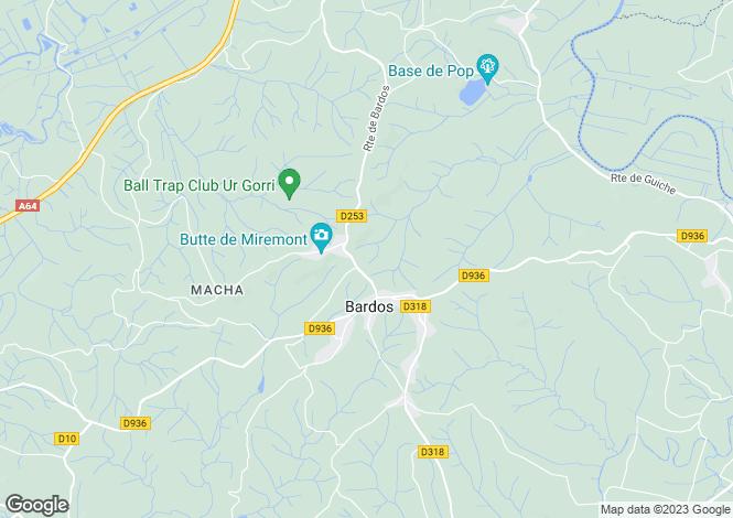 Map for Bardos, Pyrénées-Atlantiques, Aquitaine