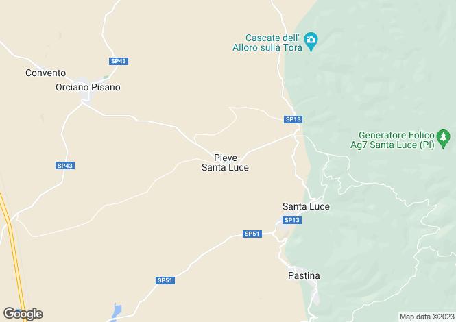 Map for Santa Luce, Pisa, Tuscany