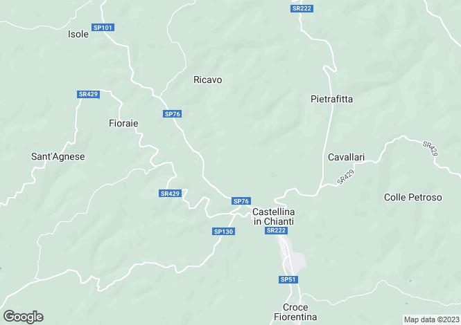 Map for Podere La Rocca, Castellina In Chianti, Tuscany, Italy