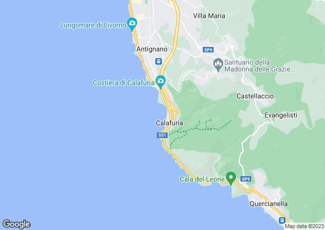 Map for Quercianella, Livorno, Tuscany