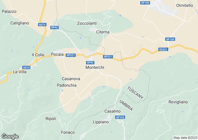 Map for Casa Loggia, Monterchi, Tuscany, Italy
