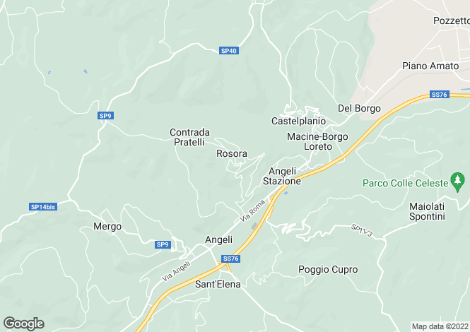 Map for Le Marche, Ancona, Rosora