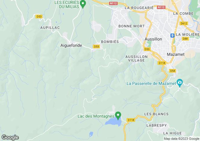 Map for mazamet---castres, Tarn, France