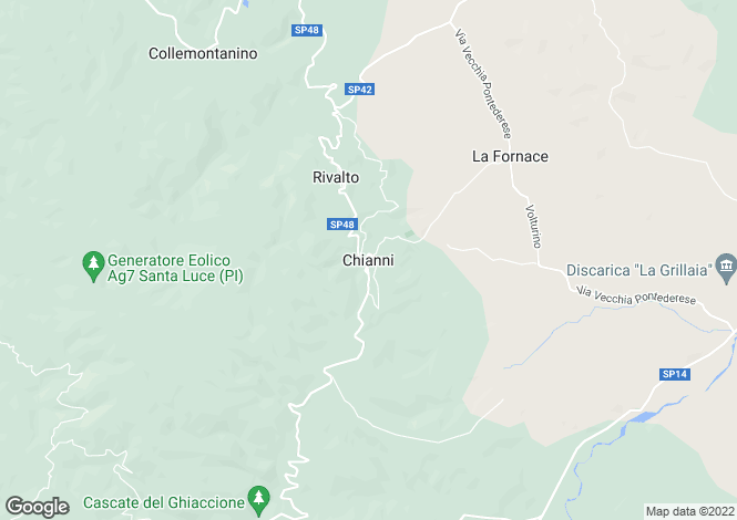 Map for Chianni, Tuscany, Italy