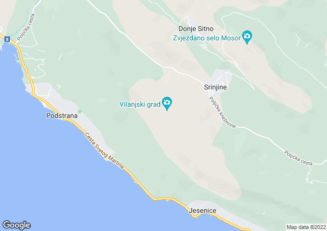 Map for Podstrana, Split-Dalmatia