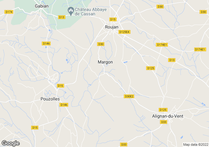 Map for Margon, Languedoc-Roussillon, France