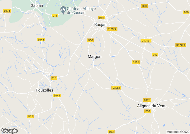 Map for Margon, Herault, 34320, France