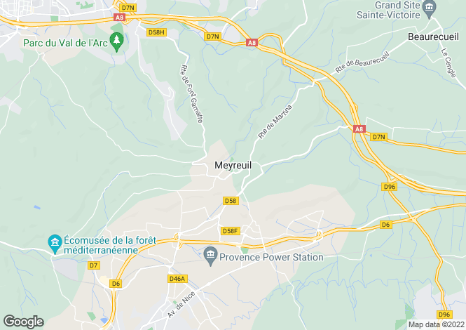 Map for Provence-Alps-Cote d`Azur, Bouches-du-Rhône, Meyreuil