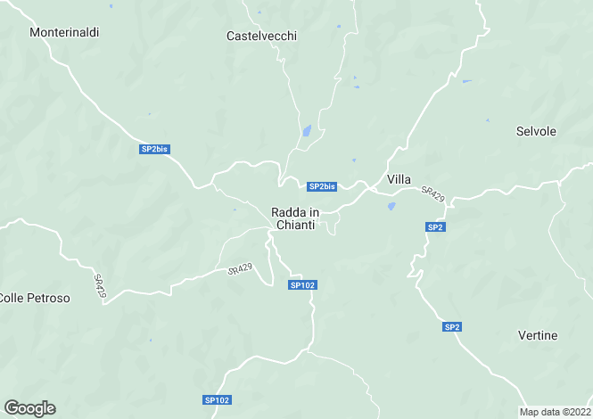 Map for Tuscany, Siena, Radda in Chianti