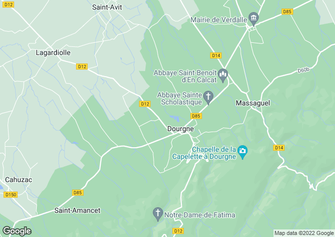 Map for dourgne, Tarn, France