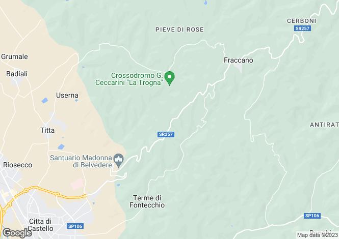 Map for Citta di Castello, Perugia, Italy