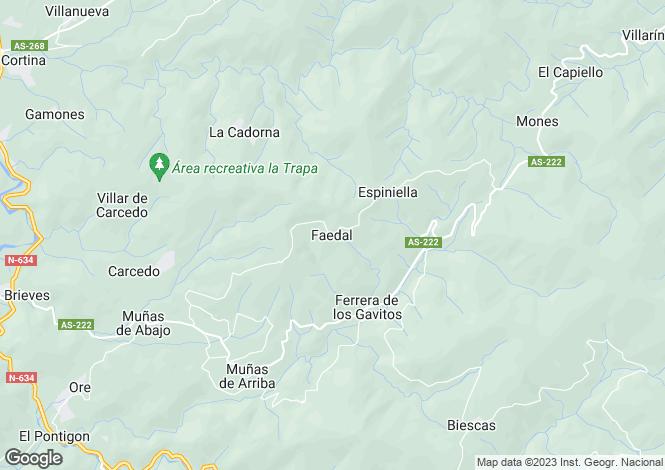 Map for Faedal, Asturias, Spain