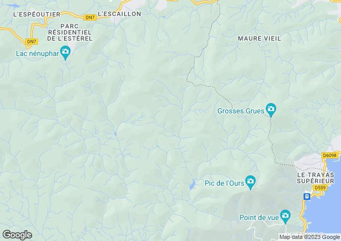 Map for Saint Aygulf, Provence-Alpes-Cote dAzur, France