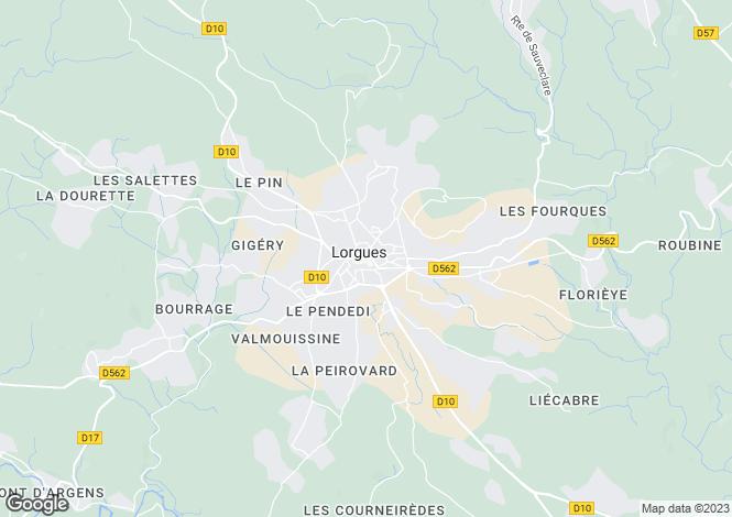 Map for Provence-Alps-Cote d`Azur, Var, Lorgues